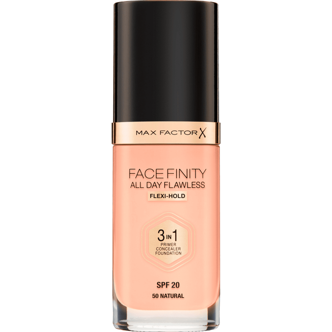 Max Factor Facefinity All Day Flawless 3-in-1 Foundation 50 Natural