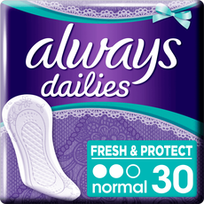 Always Dailies Fresh & Protect Inlegkruisjes Normal 30 stuks