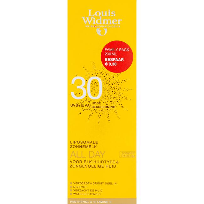 Louis Widmer All Day 30 Family Pack Zonder Parfum