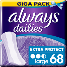 Always Dailies Extra Protect Megapak Inlegkruisjes Large