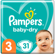 Pampers Baby-Dry Luiers 3