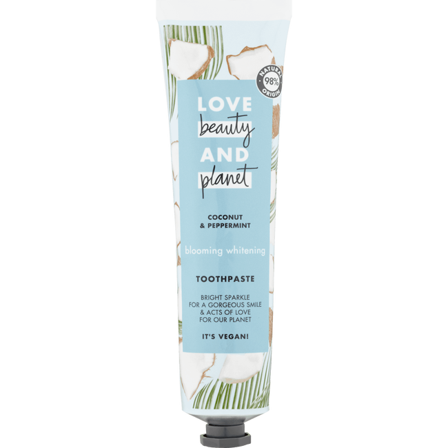 Love Beauty & Planet Coconut & Peppermint Blooming Whitening Tandpasta