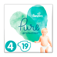 Pampers Pure Protection Maat 4 (9-14kg) 19 Luiers