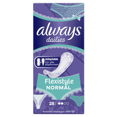 Always Dailies Flexistyle Normal Inlegkruisjes 28 stuks