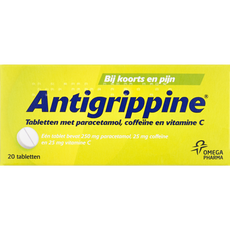 Antigrippine Tabletten met paracetamol