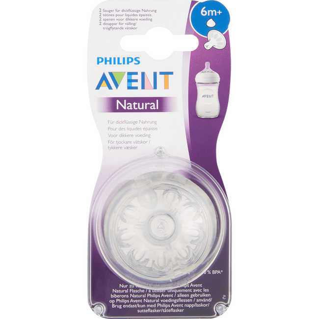 Philips Avent Natural Papspeen 2x