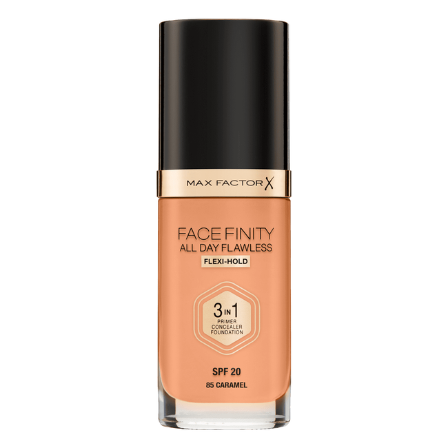 Max Factor Facefinity All Day Flawless 3-in-1 Liquid Foundation 85 Caramel