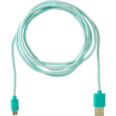 Sundaze Micro USB Charging Cable Braided Blue 2 M
