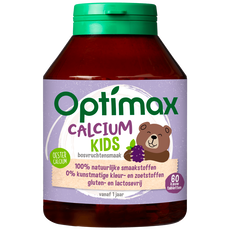 Optimax Kinder 1+ Calcium Kauwtabletten Bosvruchten