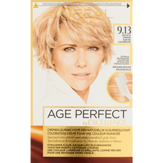 L'Oréal Paris Excellence Age Perfect Crèmekleuring 9.13 Zeer Licht As Goudblond
