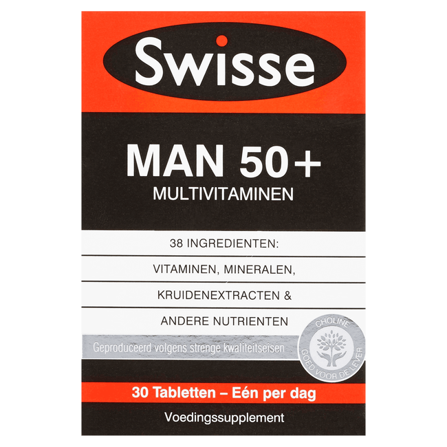 Swisse Man 50+ Multivitaminen Voedingssupplement
