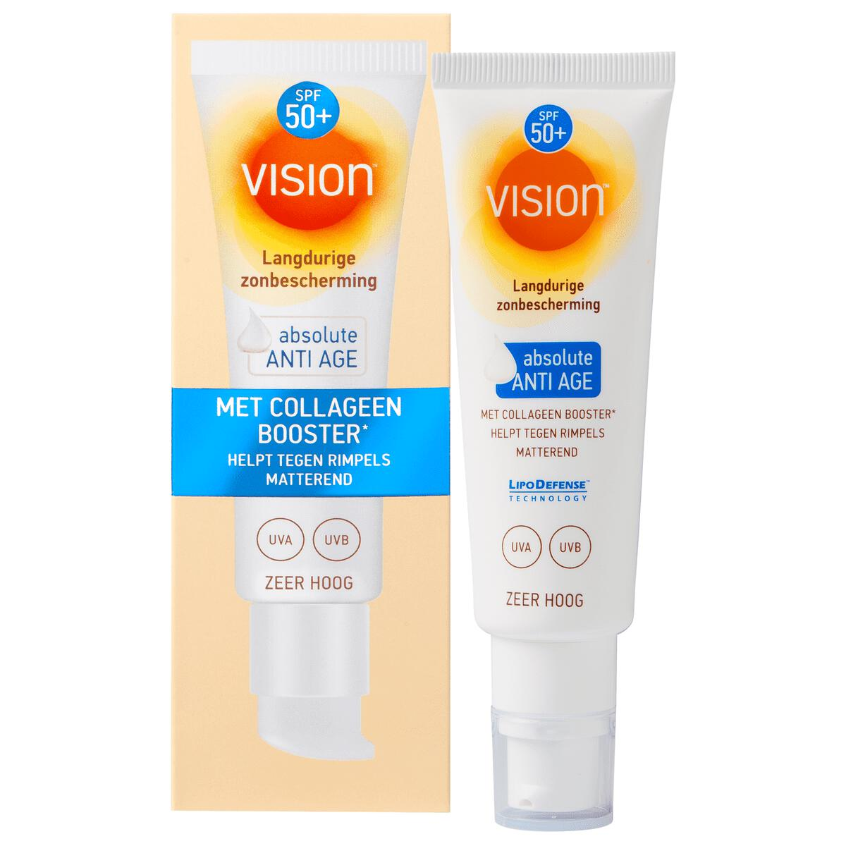 Vision Zonnebrand Absolute Anti Age Face Fluid SPF 50+ 50 ML