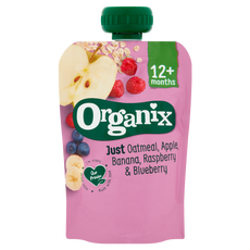 Organix Bio Knijpzakje Just Oatmeal Apple Banana Raspberry Blueberry