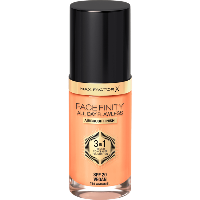 Max Factor Facefinity All Day Flawless 3-in-1 Vegan Foundation 85 Caramel