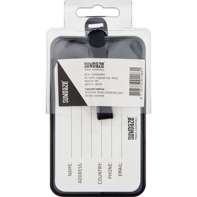 Sundaze Luggage Tag Black