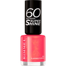 Rimmel London 60 Seconds Supershine Nailpolish -717 Flamingo Fushia
