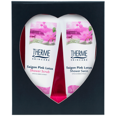 Therme Cadeauset Met Hartvenster Saigon Pink Lotus Shower/Scrub