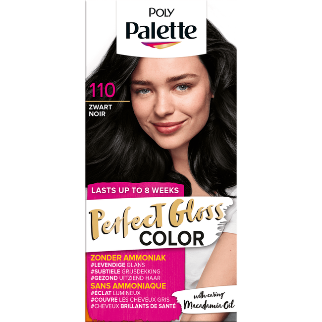 Poly Palette Perfecte Gloss Color Haarverf 110 Glossy Zwart
