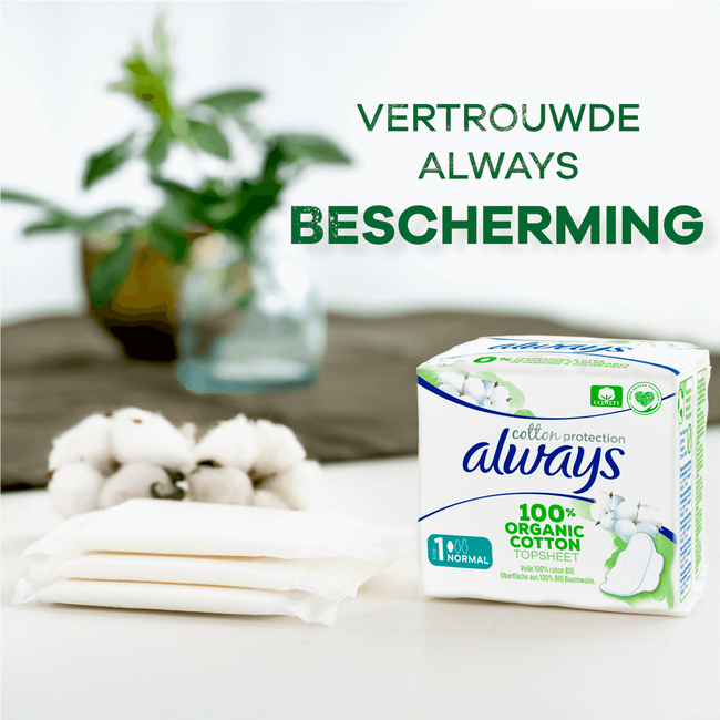 Always Cotton Protection Ultra Maandverband Met Vleugels (Maat 1) 12 Stuks
