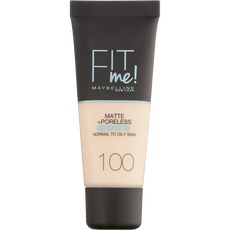 Maybelline Fit Me Matte + Poreless Foundation 100 Warm Ivory