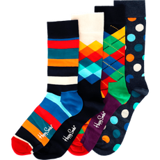 Happy Socks Giftbox 4 Pack Blue Stripe Dot