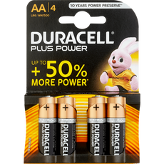 Duracell Alkaline Plus Power AA X4 Batterijen