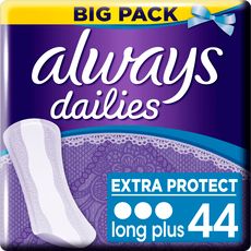 Always Dailies Extra Protect Inlegkruisjes Long Plus 44 stuks