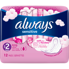 Always Sensitive Maandverband Met Vleugels Long Ultra