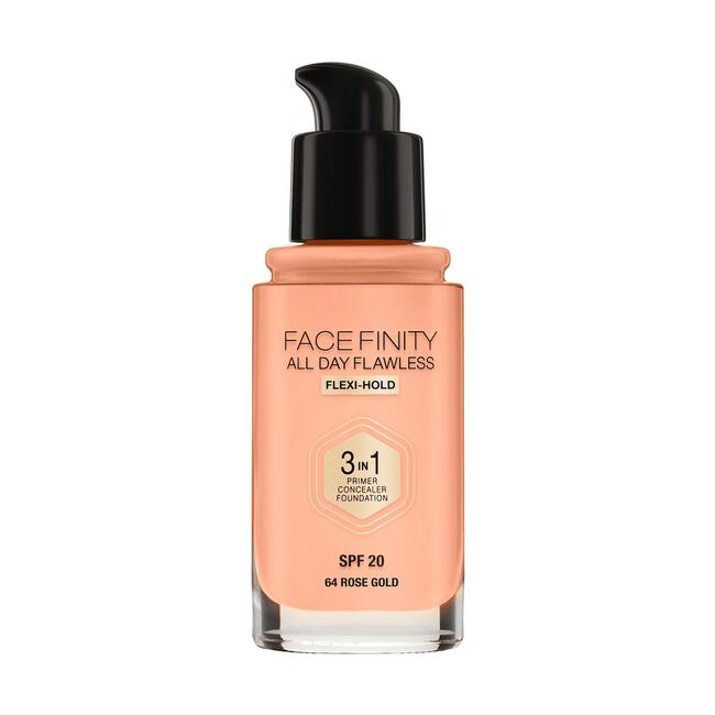 Max Factor Facefinity All Day Flawless 3-in-1 Vegan Foundation 64 Rose Gold
