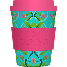Pukka Bamboo To Go Cup - Turquoise & Roze
