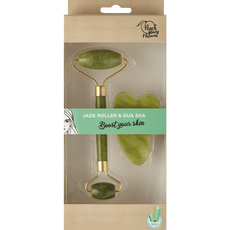 Peach Beauty Natural Jade Roller Xiuyu Massager Kit