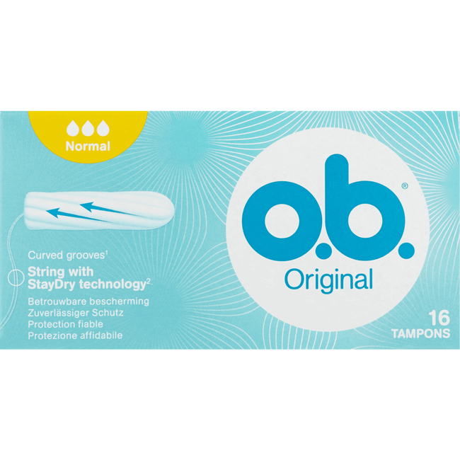 o.b. Original Curved Grooves Tampons Normal
