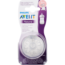 Avent Natural Flesspeen Variabel 3m+ 2x