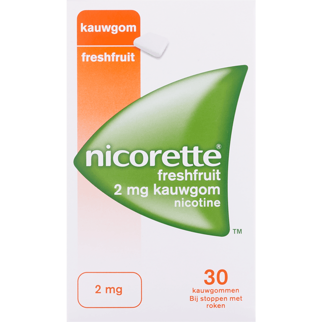 Nicorette Kauwgom Fresh Fruit 2 mg