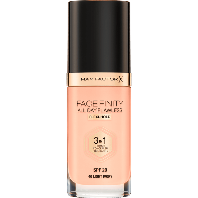 Max Factor Facefinity 3-In-1 All Day FlawlesMax Factor Facefinity 3-In-1 All Day Flawless Foundation - 040 Light Ivorys Foundation - 040 Light Ivory
