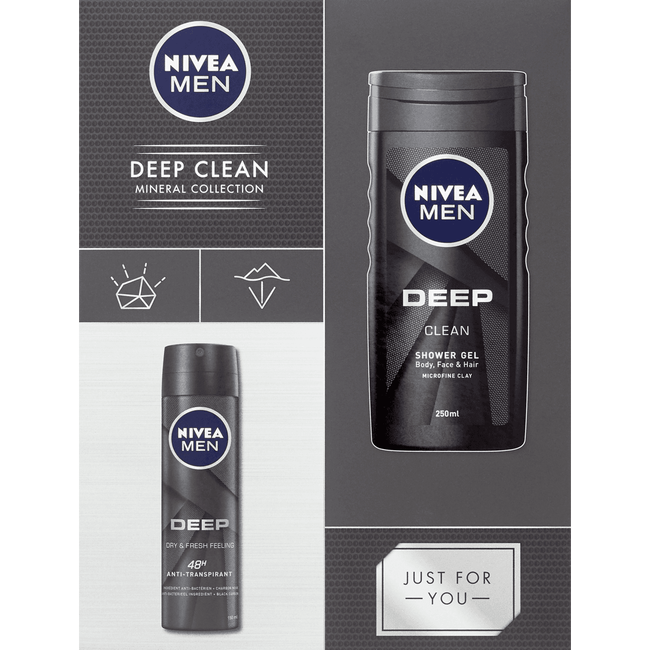 Nivea Men Deep Clean Set