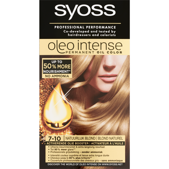 Syoss Oleo Intense Permanent Oil Color 7-10 Natuurlijk Blond