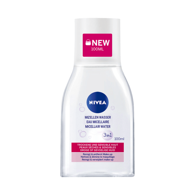 NIVEA Micellair Water 3in1 - Pocketsize - Droge of gevoelige huid