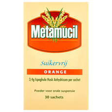 Metamucil Poeder Suikervrij Orange Sachets