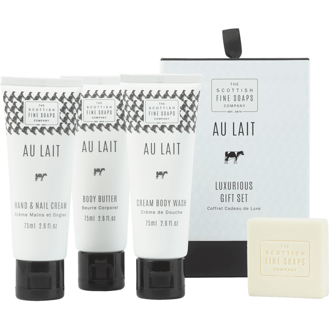 Scottish Fine Soaps Au Lait Luxurious Set