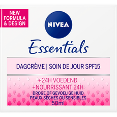 NIVEA Essentials <25 Voedende Dagcrème - droge of gevoelige huid - SPF15