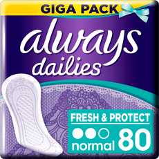 Always Dailies Fresh & Protect Megapak Inlegkruisjes Normal