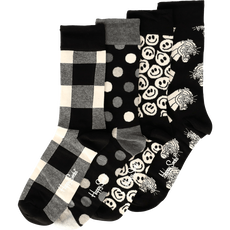 Happy Socks Giftbox 4 Pack Black White