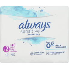 Always Sensitive Maandverband Essentials Long Plus Met Vleugels