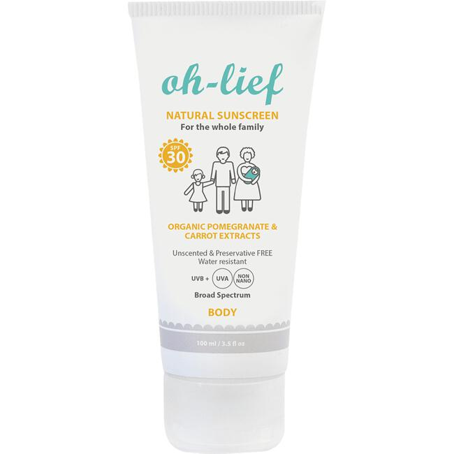 Oh-Lief Natural Sunscreen Body SPF30