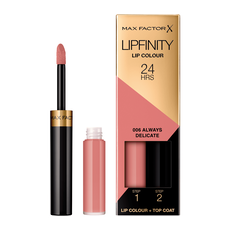Max Factor Lipfinity Lip Colour Lipstick 006 Always Delicate