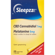 SleepzZ CBD 7 mg Melatonine 5 mg Tabletten