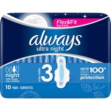 Always Ultra Maandverband Met Vleugels Night