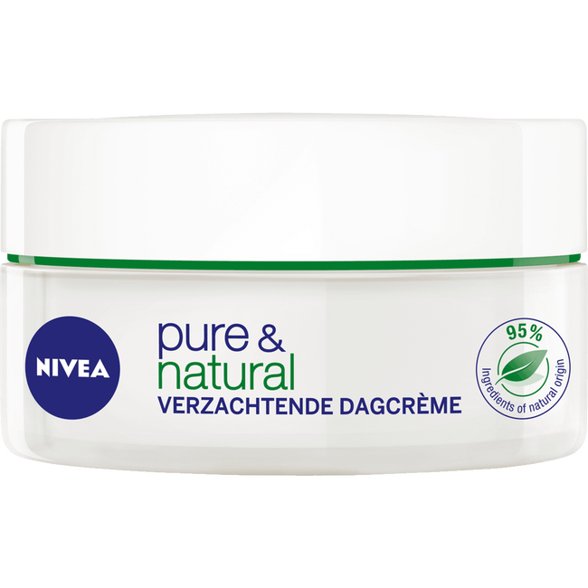 NIVEA Pure & Natural <25 Verzachtende Dagcrème - Droge of gevoelige huid