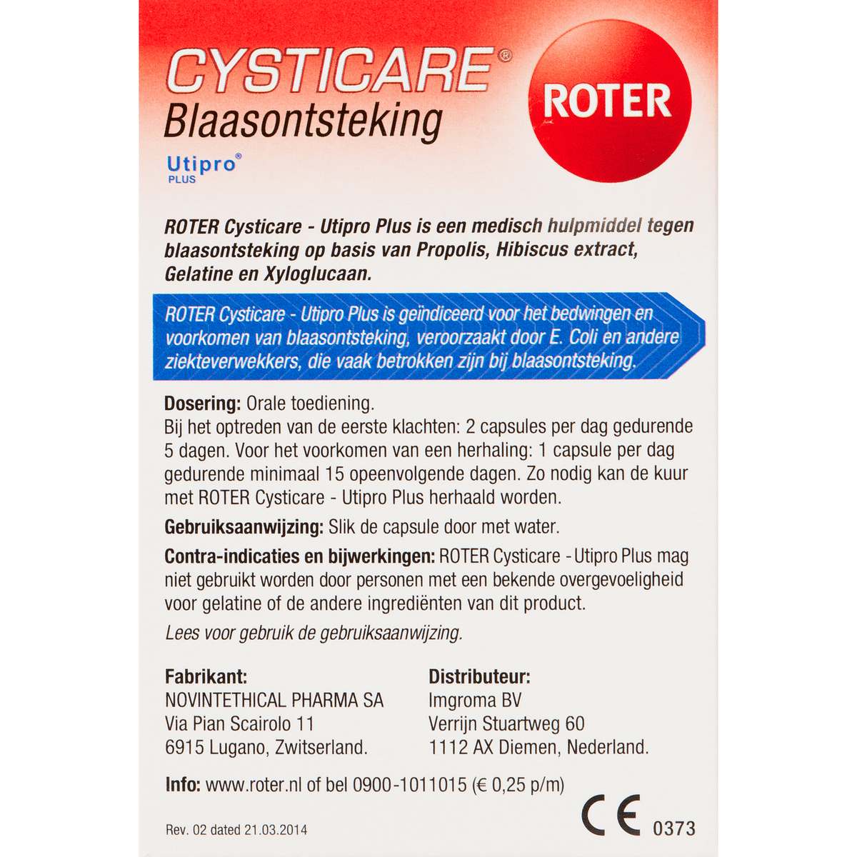 Roter Cysticare 15 tabletten
